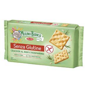 Mulino Bianco - Cracker Riso e Rosmarino Senza Glutine Confezione 200 Gr (Scadenza Prodotto 06/05/2021)