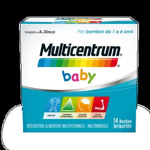 Multicentrum - Baby Confezione 14 Bustine Effervescenti