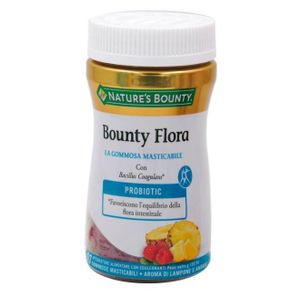 Nature's Bounty - Bounty Flora Gommosa Masticabile Confezione 60 Pezzi (Scadenza Prodotto 28/05/2021)