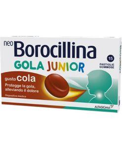 Neoborocillina - Gola Junior Gusto Cola Confezione 15 Pastiglie Gommose (Scadenza Prodotto 28/05/2021)