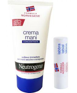 Neutrogena - Crema Mani Senza Profumo 75 Ml + Lipstick 4.8 Gr