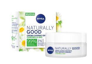 Nivea - Naturally Good Bio Camomilla Crema Giorno Pelli Secche e Sensibili Confezione 50 Ml