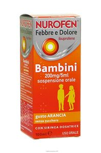 Nurofen - Febbre E Dolore Bambini 200Mg/5Ml Gusto Arancia Confezione 100 Ml