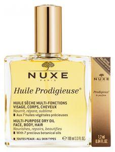 Nuxe - Huile Prodigieusse 100 ML + Prodigieux Parfum 1.2 Ml
