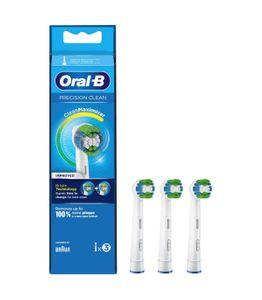 Oral B - Refill EB-20-3 Precision Clean Testine Di Ricambio Confezione 3 Pezzi