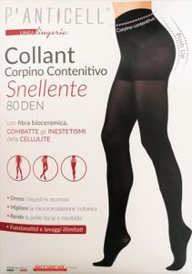 P'Anticell - Collant Push Up Contenitivo Snellente 80 Den Taglia L