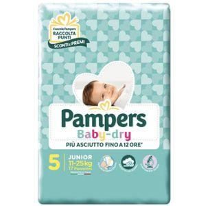 Pampers - Baby Dry Downcount Junior Taglia 5 Confezione 17 Pezzi