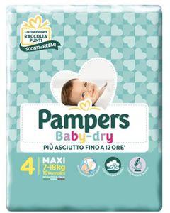 Pampers - Baby Dry Downcount Maxi Taglia 4 Confezione 19 Pezzi