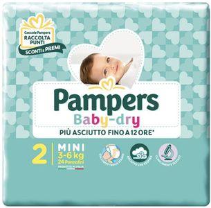 Pampers - Baby Dry Downcount Mini Taglia 2 Confezione 24 Pezzi