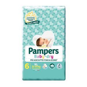 Pampers - Baby Dry Downcount XL Taglia 6 Confezione 14 Pezzi