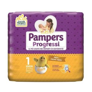 Pampers - Progressi Newborn Taglia 1 Confezione 28 Pezzi