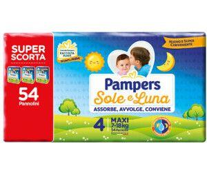 Pampers - Sole & Luna Trio Maxi Taglia 4 Confezione 54 Pezzi