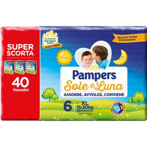 Pampers - Sole & Luna Trio Xl Taglia 6 Confezione 40 Pezzi