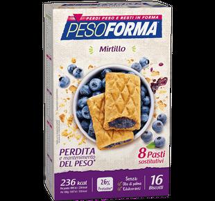 Pesoforma - Biscotti Mirtilli Confezione 16 Pezzi (Scadenza Prodotto 06/05/2021)