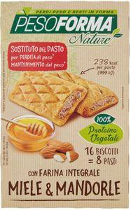 Pesoforma - Biscotto Integrale Miele E Mandorle Confezione 16 Pezzi