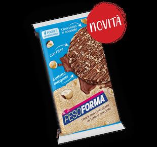 Pesoforma - Gallette Cioccolato Al Latte E Nocciola Confezione 8 Pezzi