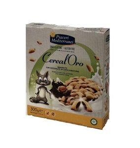 Piaceri Mediterranei - Cerealoro Quadrotti Al Latte e Nocciole Senza Glutine Confezione 300 Gr