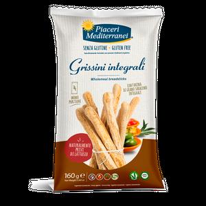 Piaceri Mediterranei - Grissini Integrali Senza Glutine Confezione 160 Gr