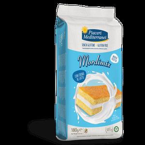 Piaceri Mediterranei - Mordimix Crema Al Latte Senza Glutine Confezione 4X45 Gr (Scadenza Prodotto 16/03/2021)