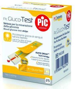 Pic - Strisce GlucoTest Confezione 25 Pezzi