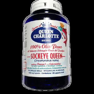 Queen Charlotte - Olio Puro Salmone Selvaggio Rosso Confezione 120 Capsule