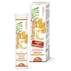 Sanavita - Vitamina C Confezione 20 Compresse Effervescenti