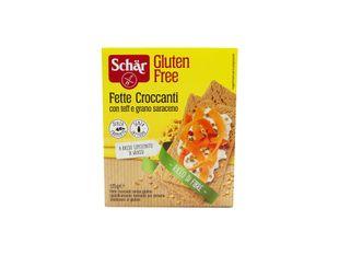 Schar - Fette Croccanti Con Teff E Grano Saraceno Senza Glutine Confezione 125 Gr