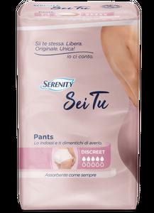 Serenity Pants - Pannoloni Mutandine Sei Tu Discreet Taglia M Confezione 12 Pezzi