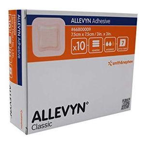 Smith & Nephew - Allevyn Adhesive 7.5X7.5 Cm Confezione 10 Pezzi (Confezione Danneggiata) (Scadenza Prodotto 28/06/2021)