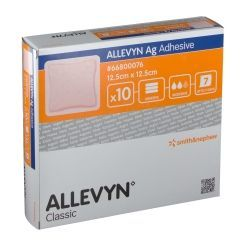 Smith & Nephew - Allevyn Ag Adhesive 10X10 Cm Confezione 10 Pezzi