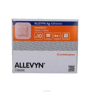 Smith & Nephew - Allevyn Ag Adhesive 7.5X7.5 Cm Confezione 10 Pezzi (Scadenza Prodotto 01/12/2021)