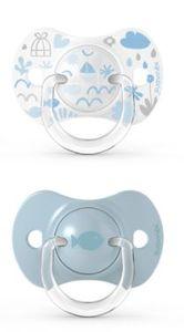 Suavinex - Memories Succhietto Tettina Simmetrica 0/6M+ Azzurro Confezione 2 Pezzi