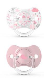 Suavinex - Memories Succhietto Tettina Simmetrica 0/6M+ Rosa Confezione 2 Pezzi
