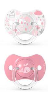 Suavinex - Memories Succhietto Tettina Simmetrica 18M+ Rosa Confezione 2 Pezzi