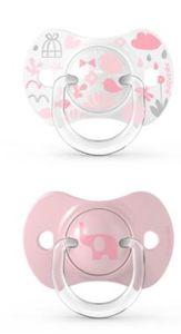 Suavinex - Memories Succhietto Tettina Simmetrica 6/18M+ Rosa Confezione 2 Pezzi