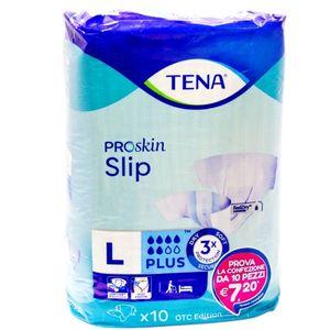 Tena - Slip Plus Pannoloni L Confezione 10 Pezzi