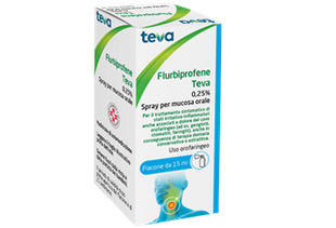 Teva - Flurbiprofene 0,25% Spray Orale Confezione 15 Ml