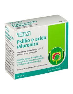 Teva - Psillio E Acido Ialuronico Confezione 20 Bustine (Scadenza Prodotto 28/01/2022)
