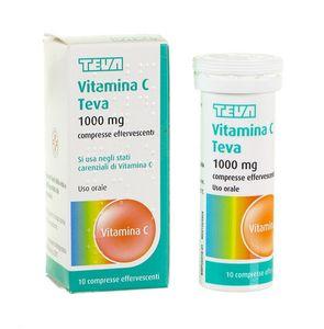 Teva - Vitamina C Confezione 10 Compresse Effervescenti