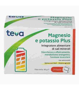 Teva - Magnesio Potassio Plus Confezione 24 Bustine (Scadenza Prodotto 28/01/2022)