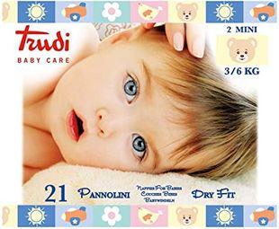 Trudi - Baby Care Pannolino Dry Fit Min 3/6 Kg Confezione 21 Pezzi