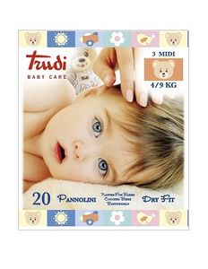 Trudi - Baby Care Pannolino Dry Fit Midi 4/9 Kg Confezione 20 Pezzi
