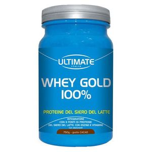 Ultimate - Whey Gold 100% Cacao Confezione 750 Gr