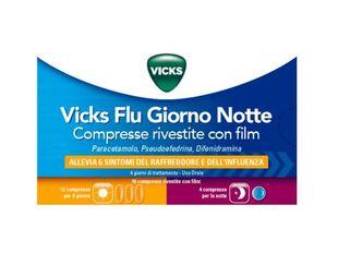 Vicks - Flu Giorno Notte Confezione 12+4 Compresse