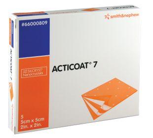 Smith & Nephew - Acticoat 7 Con Cristalli D'Argento 5X5 Cm Confezione 5 Pezzi (Scadenza Prodotto 01/02/2022)