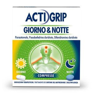 Actigrip - Giorno&Notte Confezione 12+4 Compresse