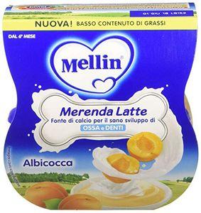 Mellin - Merenda Latte Albicocca Confezione 2X100 Gr (Scadenza Prodotto 16/12/2020)