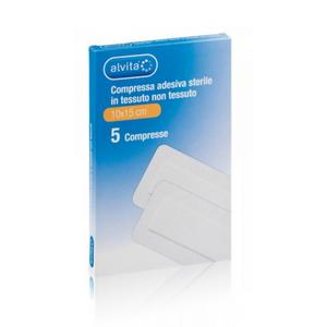 Alvita - Compressa Adesiva Sterile In Tessuto Non Tessuto 15X15 Cm Confezione 5 Pezzi