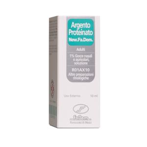New Fa.Dem. - Argento Proteinato Adulti 1% Gocce Nasali e Auricolari Confezione 10 Ml