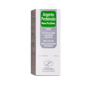 New Fa.Dem. - Argento Proteinato Adulti 2% Gocce Nasali e Auricolari Confezione 10 Ml
